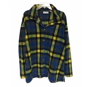 Westbound Casual Yellow and Blue Fleece Coat